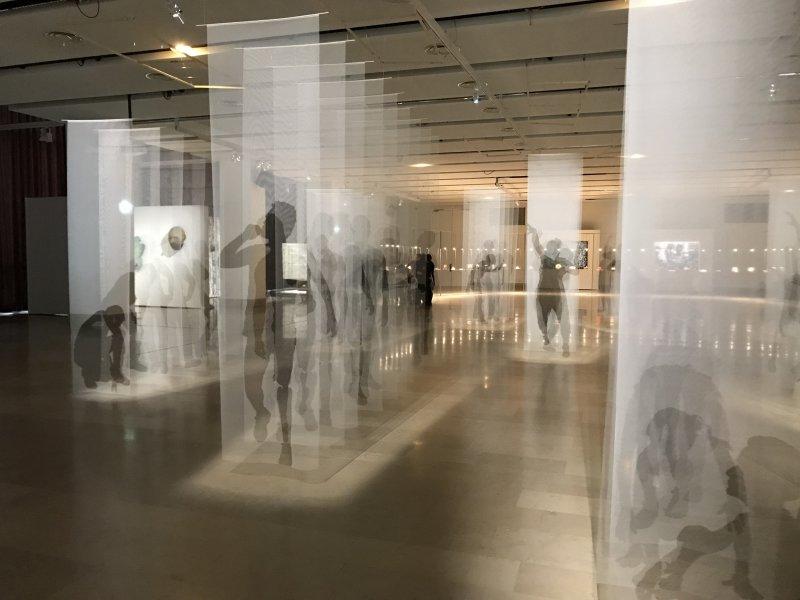 Vue de l'exposition Miniartextil 2019 Le Beffroi, Montrouge (76)