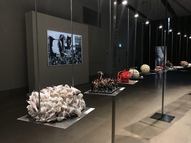 Vue de l'exposition Miniartextil 2019 Le Beffroi, Montrouge (85)