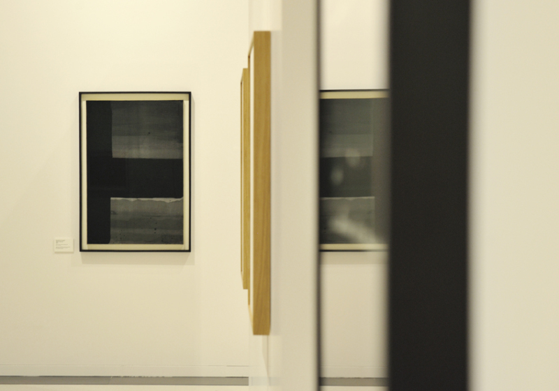 Vue de l'exposition Pierre Soulages, oeuvres sur papier - Musée Soulages, Rodez (11)