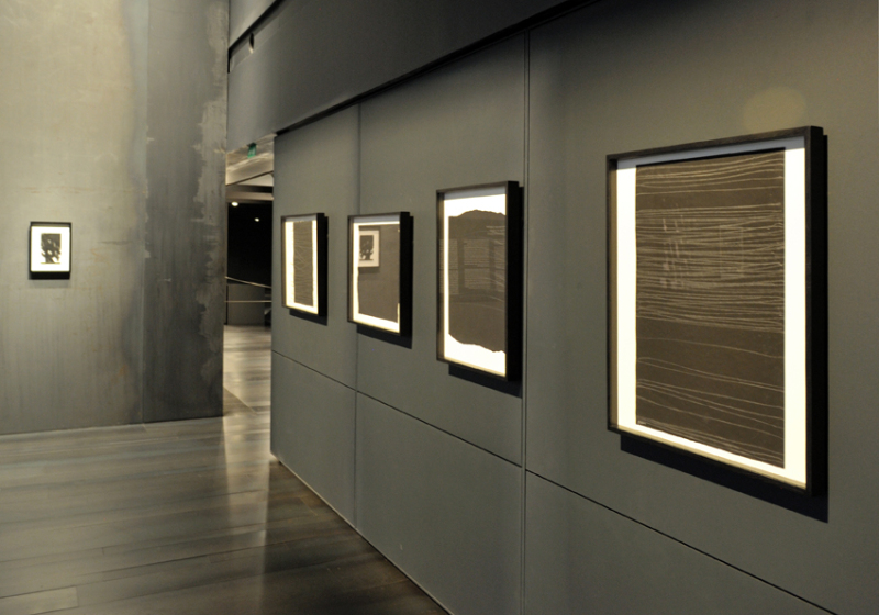 Vue de l'exposition Pierre Soulages, oeuvres sur papier - Musée Soulages, Rodez (14)