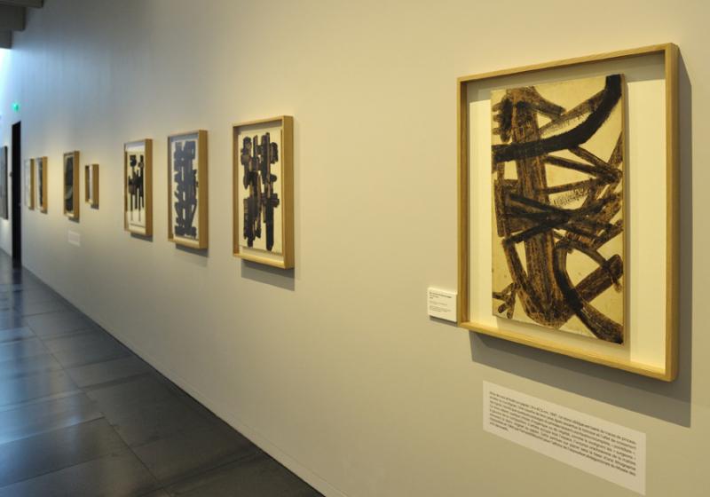 Vue de l'exposition Pierre Soulages, oeuvres sur papier - Musée Soulages, Rodez (20)
