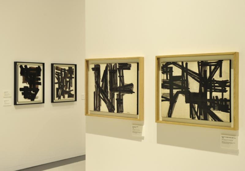Vue de l'exposition Pierre Soulages, oeuvres sur papier - Musée Soulages, Rodez (9)