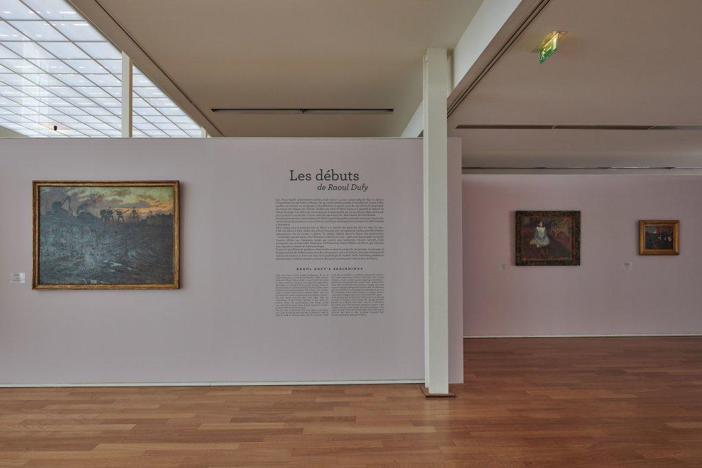 Vue de l'exposition Raoul Dufy au MUMA