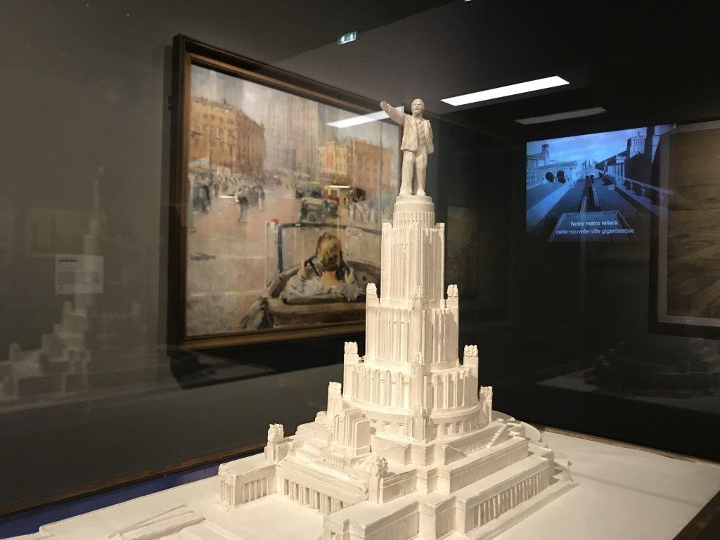 Vue de l'exposition Rouge, Art et utopie au pays des Soviets, Paris (1)