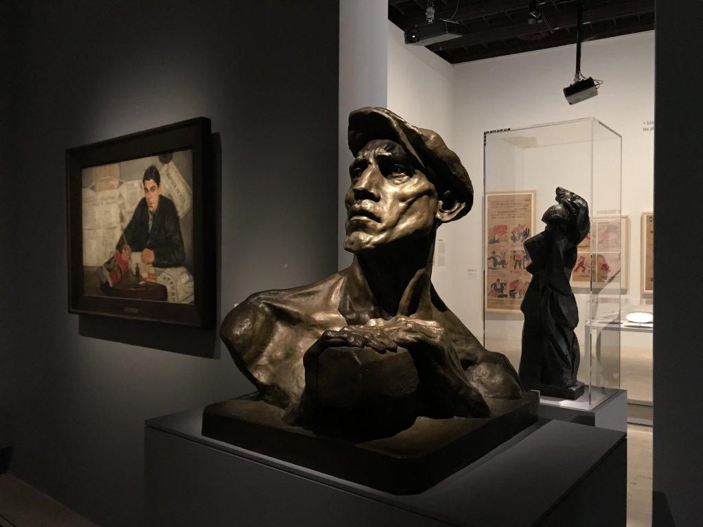 Vue de l'exposition Rouge, Art et utopie au pays des Soviets, Paris (13)