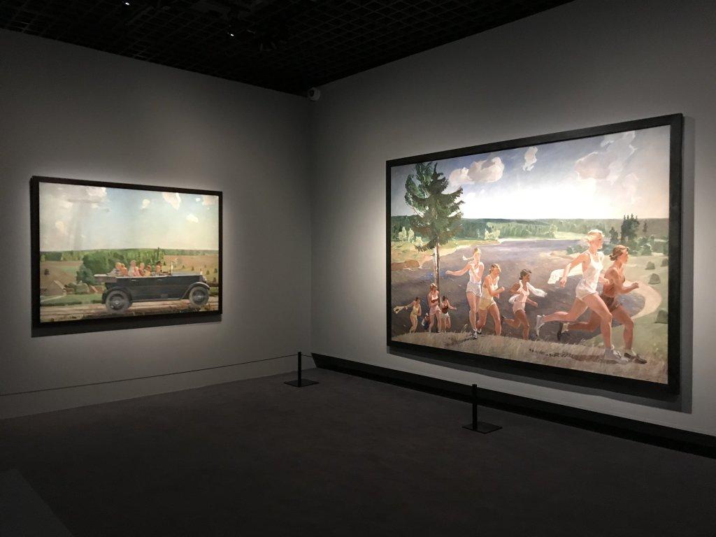 Vue de l'exposition Rouge, Art et utopie au pays des Soviets, Paris (2)