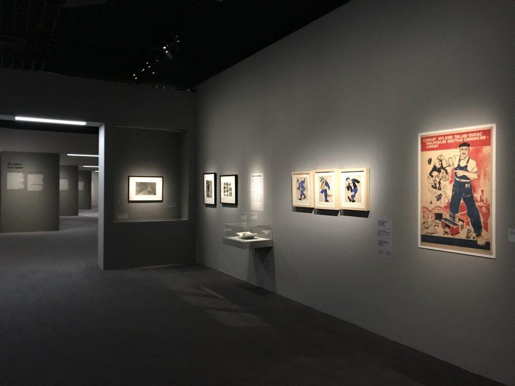 Vue de l'exposition Rouge, Art et utopie au pays des Soviets, Paris (44)