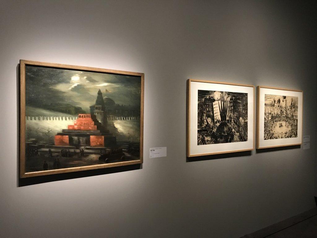 Vue de l'exposition Rouge, Art et utopie au pays des Soviets, Paris (54)