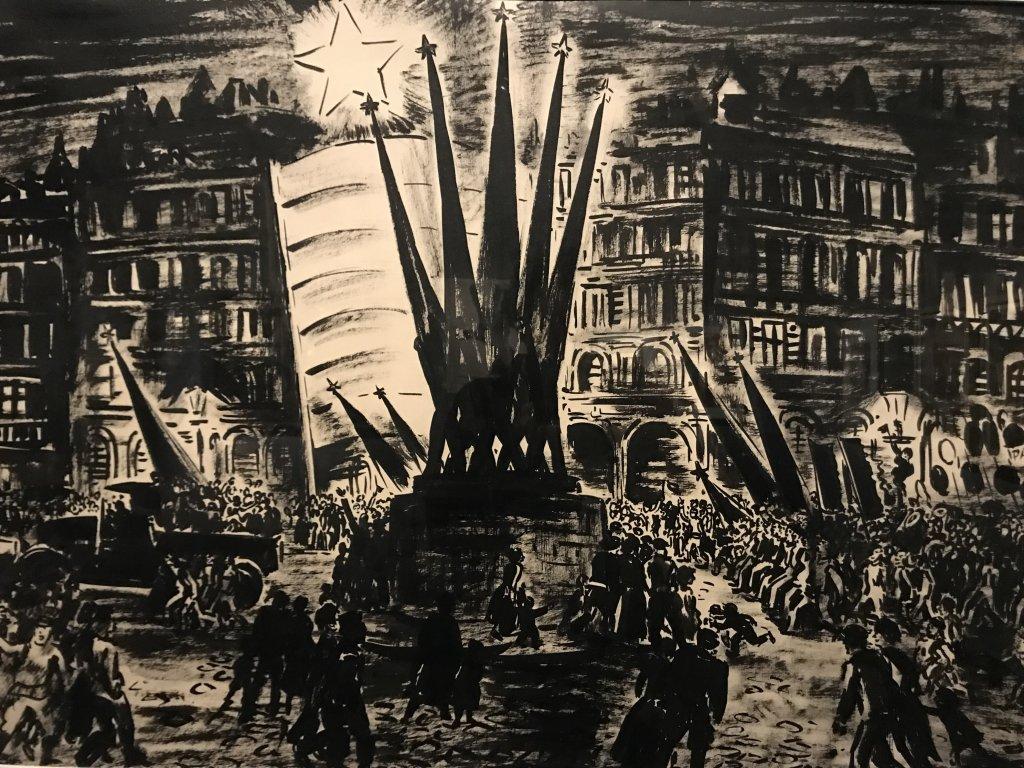Vue de l'exposition Rouge, Art et utopie au pays des Soviets, Paris (55)